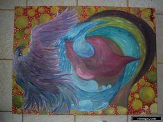 noenga.com :(c)  () :: Quando a lua chora :: Outros : Vanguardista : Pintura : Óleo : Quando a lua chora as mulheres lhe beijam as lagrimas.
