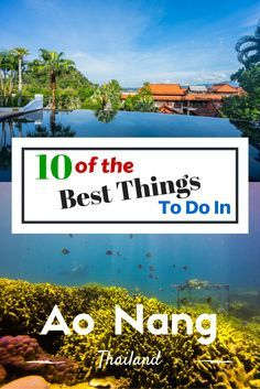 Here are the best things to do in Ao Nang from those who know! We spent a week in Krabi and came up with the 10 best activities in Ao Nang. Thailand Travel, Asia Travel, Ao Nang Thailand, Khao Lak Beach, Stuff To Do, Things To Do, Lamai Beach, Koh Chang, Backpacking Tips