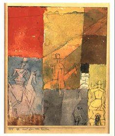Mit den vier Reitern by Paul Klee 1915