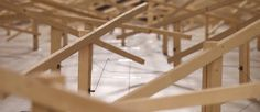 Swiss installation artist Zimoun has unveiled a new site-specific installation based on 150 prepared dc-motors, wood, string wire and hosted inside a beautiful old church in Klangraum Krems, Austria. Motor Dc, Sound Sculpture, Artistic Installation, Seesaw, News Sites, Austria, Wood, Grande, Larger