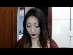 vídeo com maquiagem para vestido vermelho
