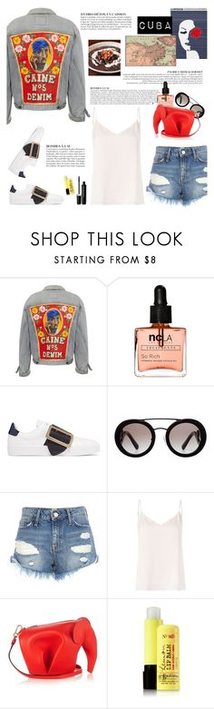 """""""How to Style a Painted Denim Jacket for Winter Travel to Cuba"""" by outfitsfortravel ❤ liked on Polyvore featuring Anja, ncLA, Burberry, Prada, River Island, L'Agence, Loewe, 1901 and Marc Jacobs"""