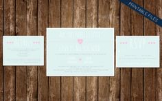 All You Need is Love and Love is All you Need Wedding Invitation Suite - The Beatles said it best :)