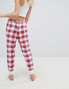 Hollister Check Pajama Bottoms - Red