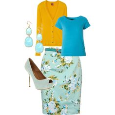 "This looks like it would be fun to wear. ""Spring Church Outfit"" by eskoien on Polyvore"