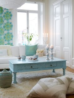 fabulously cool in creams/blues/greens...