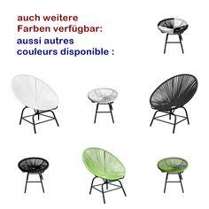 """Die bequemen """"Acapulco"""" Stühle gibt es in diversen Farbvarianten und mit passenden Tischen dazu. #gartenstuh #gartentisch #bistrotisch #gartensessel #gartenlounge #balkontischchen #balkontish #balkonstuhl #balkonstühle #spaghettistuhl #spaghettistühle #acapulcochair #acapulcosessel #acapulcostuhl #acapulcostühle #kochshop #kochshopch #terassenstuhl #terassentisch Outdoor Living, Chair, Furniture, Home Decor, Color, Household, Outdoor Life, Decoration Home, Room Decor"""