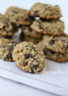 The best low fat oatmeal raisin cookie recipe #recipe #cookie skiptomylou.org
