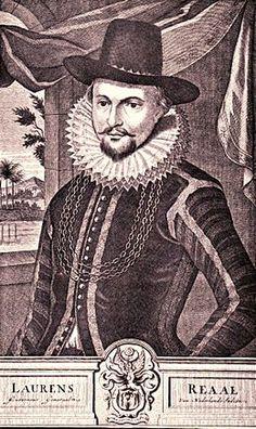Dit is Laurens Reael als gouverneur-generaal. hij is geboren op 22 oktober Amsterdam 1583  en is gestorven op 21 oktober Aldaar 1637. Hij was degene met Coen(zie plaatje van Coen) die zo harde monopolie op handelsproducten had.