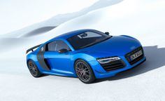 Foto Lateral Audi R8 lmx Cupe 2014 blue azul