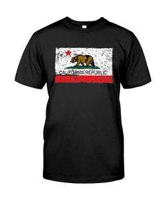 Pit Bull West Coast Men/'s T-Shirt Cal Flag Black California