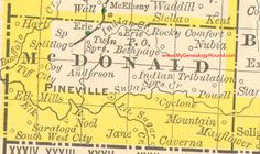 McDonald County, Missouri 1890 Map Pineville, Rocky Comfort, South West City, Powell, Bethpage, Elk Mills, Saratoga, Noel, MO