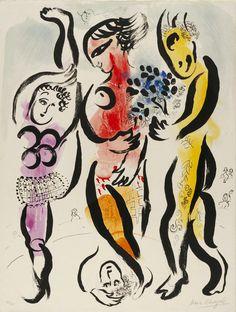 Marc Chagall - (de drie acrobaten)