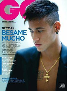 Der Stefashionist: Fashion, Passion & Models: Neymar by Jean-Baptiste Mondino for GQ Italia Neymar Jr Hairstyle, Neymar Wallpaper, Brazilian Soccer Players, Neymar 11, Mario Gomez, Magazine Images, Magazine Covers, Hair Magazine, Neymar Brazil