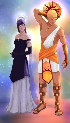 Naruto as Sol (the sun) and Hinata as Luna (the moon) Naruto And Sasuke, Naruto Uzumaki, Anime Naruto, Hinata Hyuga, Itachi, Naruhina, Funny Anime Couples, Naruto Couples, Zeus And Hera