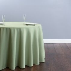 108 in. Round Polyester Tablecloth Resda