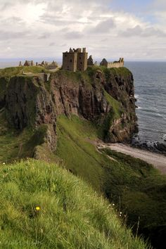 Dunnottar Castle where the Honours of Scotland were protected from Cromwell's forces - smuggled out and hid just in time!