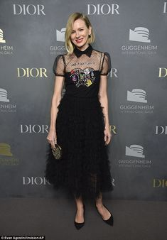 Sheer delight! Naomi Watts showcases her sartorial style as she slips into a whimsical des...