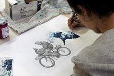 Elaborato dell'allieva Alice Capuano della classe 2A a.s. 2014/15, per concorso Antichi mestieri BML. Liceo artistico Stagi Pietrasanta.