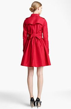 Red Valentino Bow Back Trench Coat available at #Nordstrom