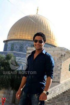 احمد جمال يزور المسجد الاقصى ,,,,,,يا بختك :)