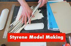 Styrene Tutorial Guide(Part basic intro to plastic model making, mod. Modeling Techniques, Modeling Tips, Models Men, Model Cars Building, Welding Training, Mini Car, Model Training, Welding Jobs, Tips & Tricks