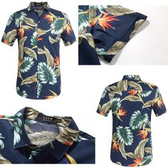 df3d33929a181 SSLR Tropical Leaves Casual Hawaiian Shirt  hawaiian shirt  casual shirt   tropical leaves