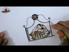 Learn bridal mehendi BRIDE SITTING in DOLI intricate mehndi design :English - YouTube