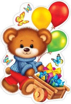 Bear Cartoon, Cartoon Art, Kids Cards, Baby Cards, Cute Images, Cute Pictures, Diy Arts And Crafts, Crafts For Kids, Teddy Bear Images