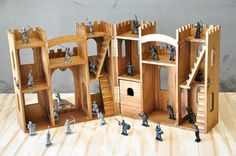 Wooden Toy Castle by LindermanLane on Etsy