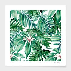 Purchase Palm Green Leaf Tropical Leaves Dense Jungle Hand Watercolor Pattern Colorful Summer Water Wall Art Hanging Tapestry inch from Hedda Stan on OpenSky. Hanging Tapestry, Hanging Wall Art, Wall Tapestry, Wallpaper Infantil, Jungle Art, Plant Wallpaper, Water Walls, Thing 1, Canvas Prints