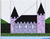 Castle, free template, http://www.quilterscache.com/A/AlphabetPatterns.html