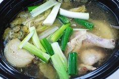 This slow cooker version of a Korean chicken soup is very easy to make! The flavorful, hearty soup is packed with tender chicken and soft napa cabbages. Korean Chicken Soup, Soup Recipes, Cooking Recipes, Recipies, Asian Recipes, Ethnic Recipes, Weekly Recipes, Napa Cabbage, Crock Pot Soup