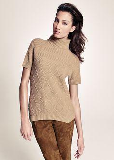 Cozy Flannel Aran Stitch Turtleneck | Lafayette 148 New York