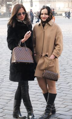 Two nice russian girls. Right deserve fur coat! Left is great.