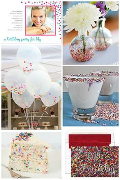 Do you know a young lady that is full of bubbly personality and spirit? Host a colorful confetti and sprinkle themed birthday party for that...