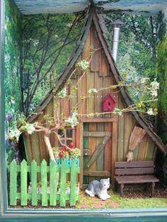 Cadre vitrine miniatures un havre de paix miniature et d coration - Cabane jardin nantes villeurbanne ...
