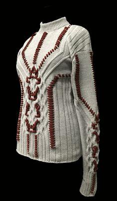 Designer: Yekaterina Burmatnova: knitGrandeur: FIT & Baruffa 2/30s Cashwool Collaboration 2016: Term Garment Project