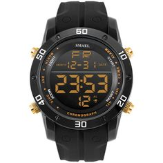 Fashion Casual Watches Men Orange LED Digital Watches Sports Alloy Clock Male Automatic Date Watch Army Men's Wristwatch WS1145 - Gold Great, huh? Visit us
