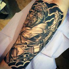 Greek Gods Tattoos For Men On Legs