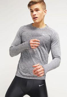 Nike Performance Sportshirt - black/heather/reflective silver - Zalando.nl