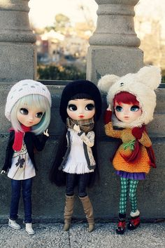 Encuentro de pullips custom de Poison Girl xD  Sugus de Nunusite, Liv y Beatle de Tataynarata