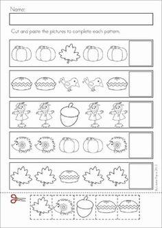 Autumn / Fall Math Worksheets & Activities No Prep Fall Preschool Activities, Preschool Lesson Plans, Preschool Math, Literacy Worksheets, Math Literacy, Teaching Math, Pattern Worksheet, Math Patterns, Kindergarten Prep