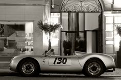 Porsche 550 Spyder Giant B&W Poster Classic Sports Car Huge Print Inches Weird Cars, Cool Cars, Classic Sports Cars, Classic Cars, My Dream Car, Dream Cars, Porsche 550, Ferdinand Porsche, Milan