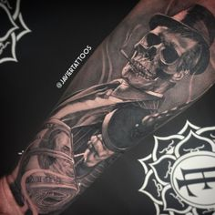 Custom mafia tattoo