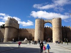 Walking to the Puerta del Alcazarr gate, Avila, Spain  From TheBarefootNomad.com