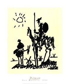 Pablo Picasso Don Quixote print for sale. Shop for Pablo Picasso Don Quixote painting and frame at discount price, ships in 24 hours. Pablo Picasso, Kunst Picasso, Art Picasso, Picasso Drawing, Picasso Prints, Picasso Paintings, Picasso Don Quixote, Art Ninja, Framed Art Prints