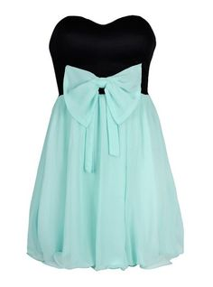 Chiffon Bow dress in black and blue, AU$24.99 from Ally, Australia. Also comes in black and white. So cute!!!