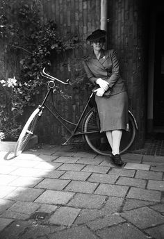 Jo with her 1934 bicycle