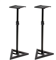 Studio Monitor Speaker Stand Height Adjustable Pair Concert Band DJ Studio